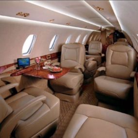 Private jet Cessna Citation Sovereign Interior design